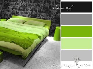 сочетание зеленого и черного